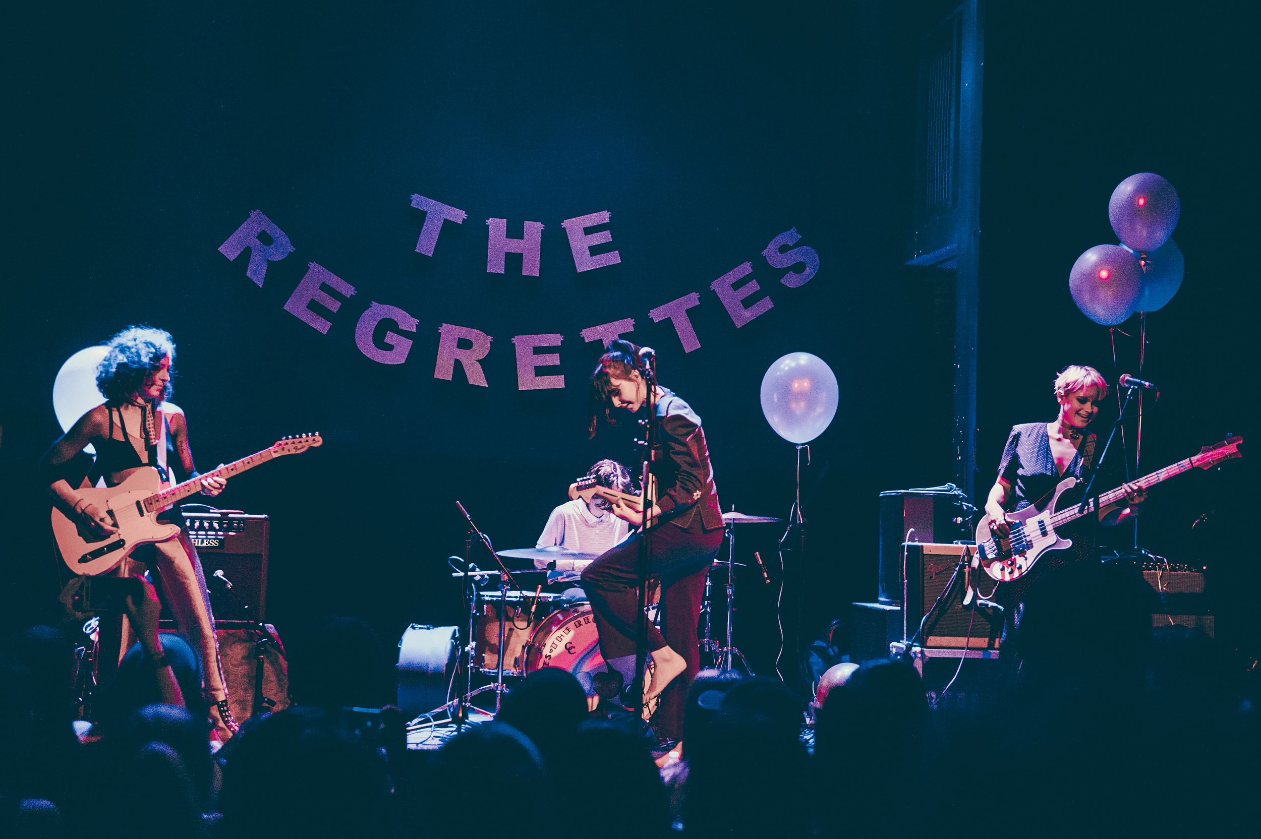 The Regrettes photographed by Chad Kamenshine