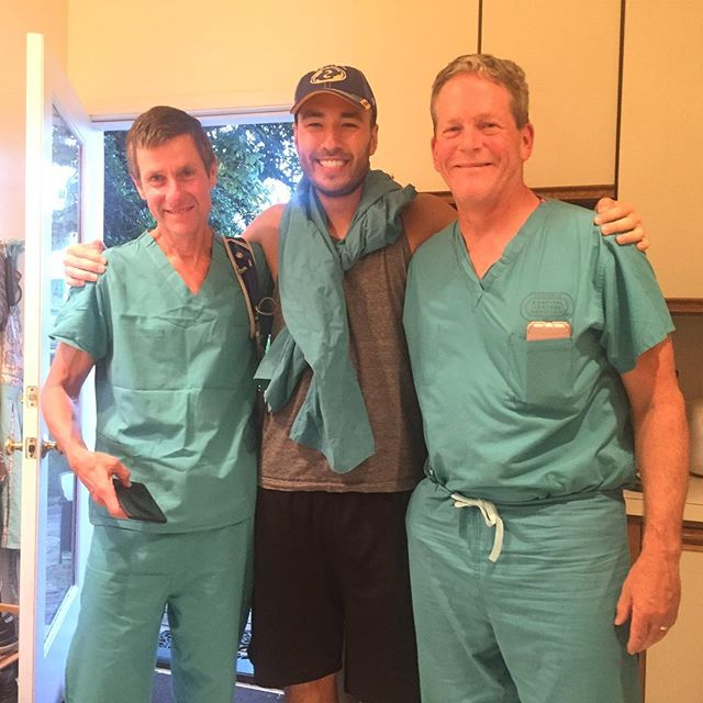 Wrapping up a doubleheader night of recording one of our residency podcasts, Greyscale, with two of our faculty. Check it out on iTunes! (Search term: Greyscale) (Ben doesn't own scrub tops so he used pants to fit in) #Greyscale #FamilyMedicine #Podcastlovers  #NoItIsntAGOTPodcast