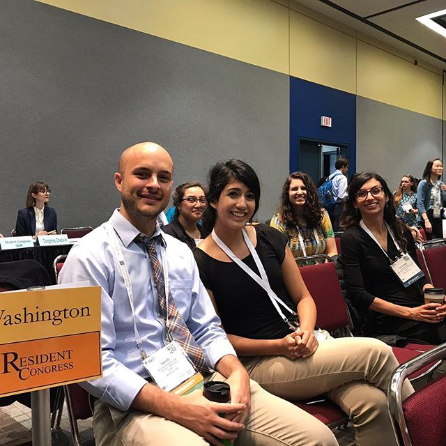 Third year resident David participating as a Washington State Resident Delegate! #AAFPNC #FamilyMedicine