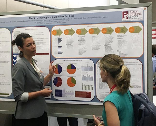 One of our third year residents, Alicia, presenting her work at NCFMR as part of the Emerging Leaders Program! #aafpnc #familymedicine