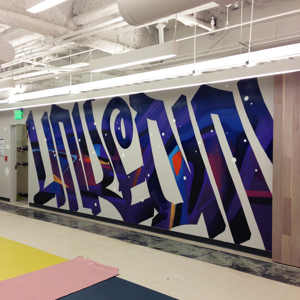 Linkedin SF Office | Mural | Sam Rodriguez Art