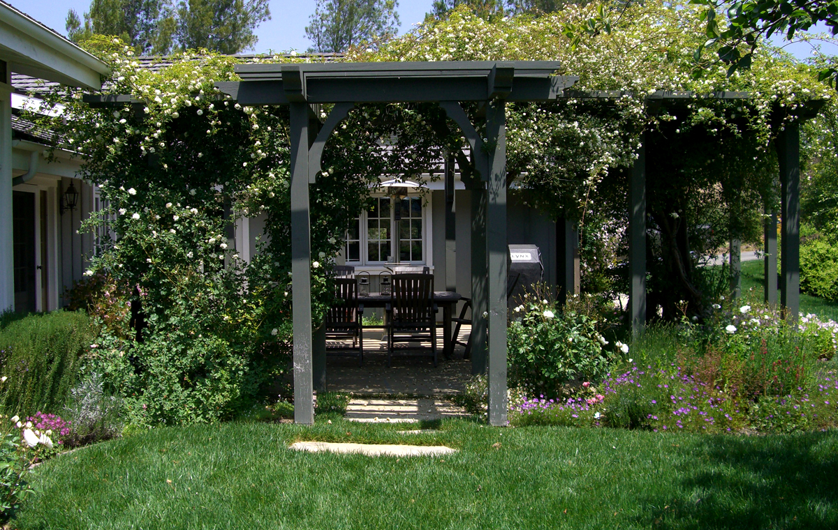 Custom patio and gardens, private residence, Solvang.
