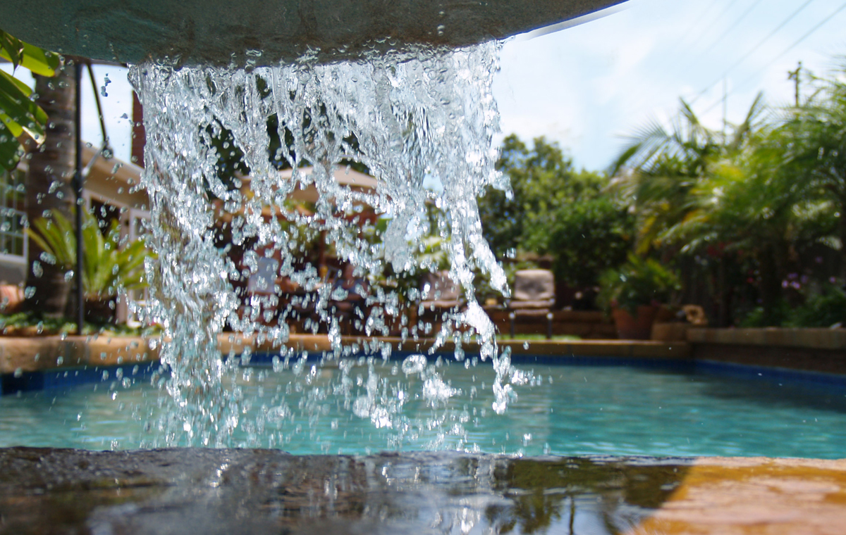 Water feature, private residence, Goleta.