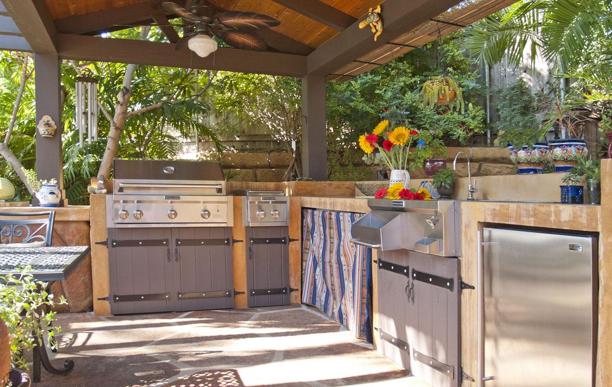 Custom-built outdoor kitchen, private residence, Santa Barbara.
