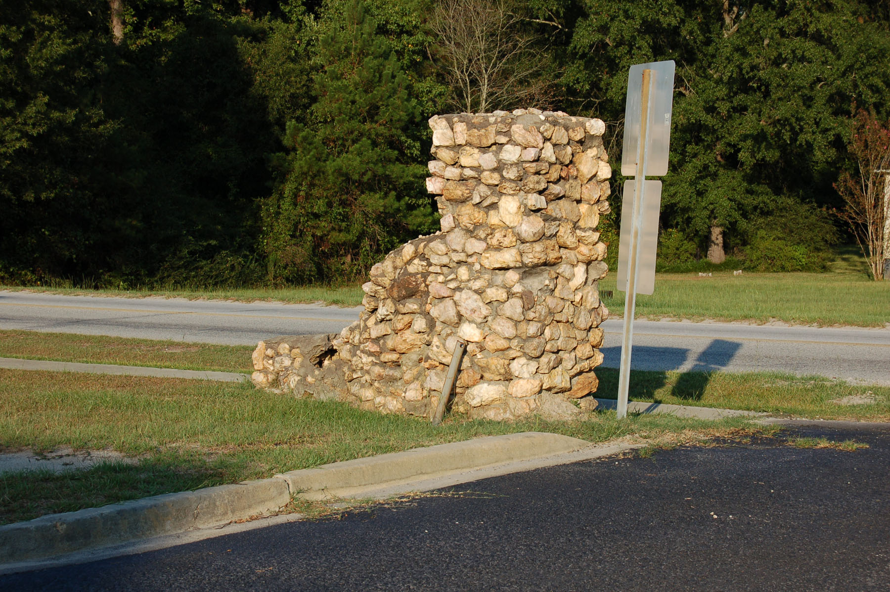 Rock Columns built by the in the 1930's.  Photo by Jim McLean.