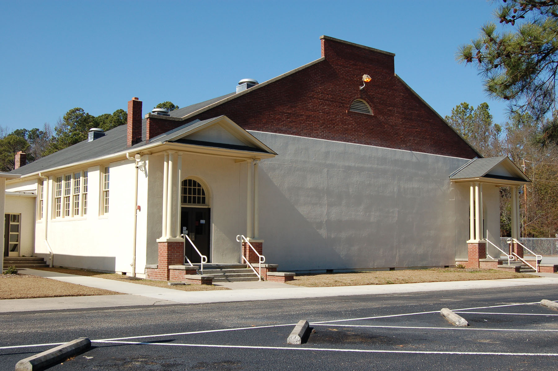 Blythewood School Gym built in 1938 by the WPA.  Photo by Jim McLean