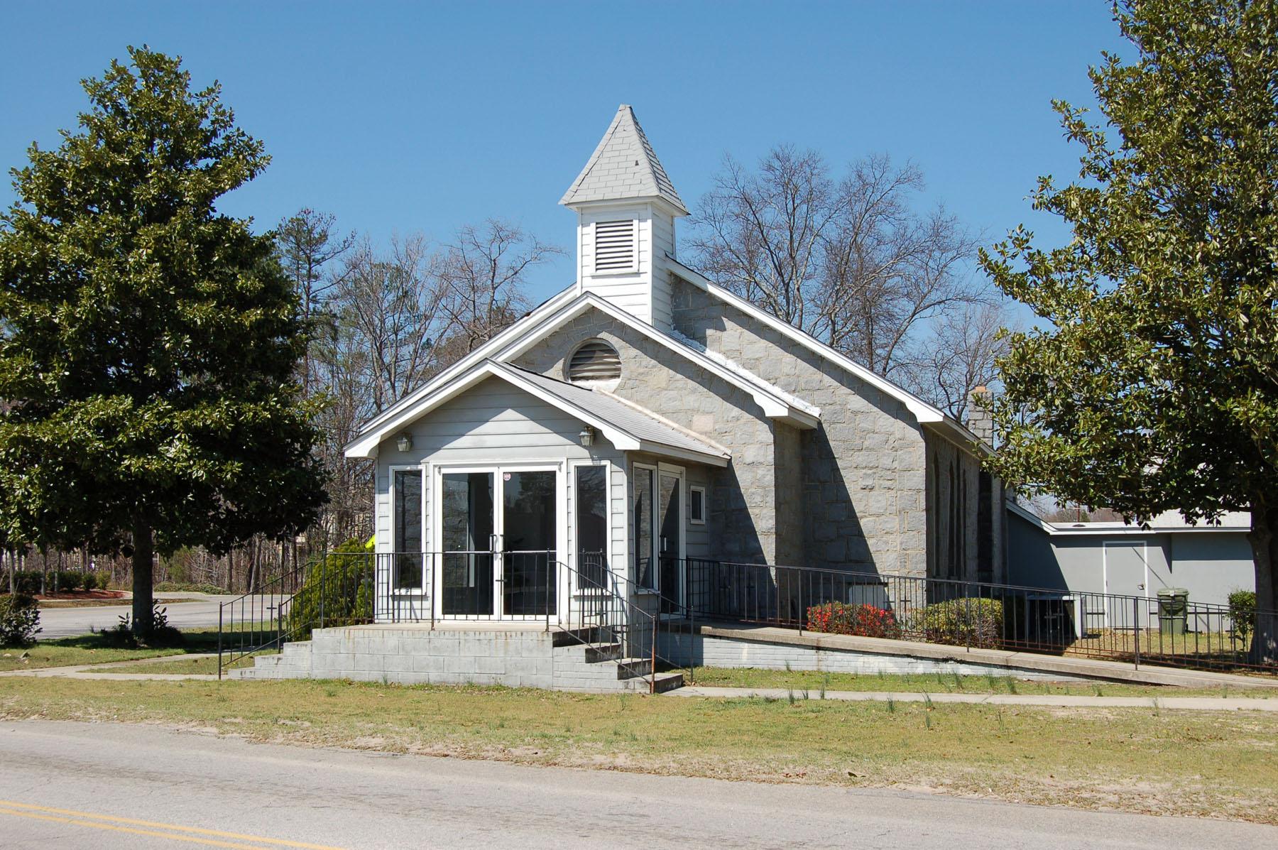 Bethel Baptist Church built in 1884. It bean as a brush arbor church and is designated Richland County Landmark.  Photo by Jim McLean.