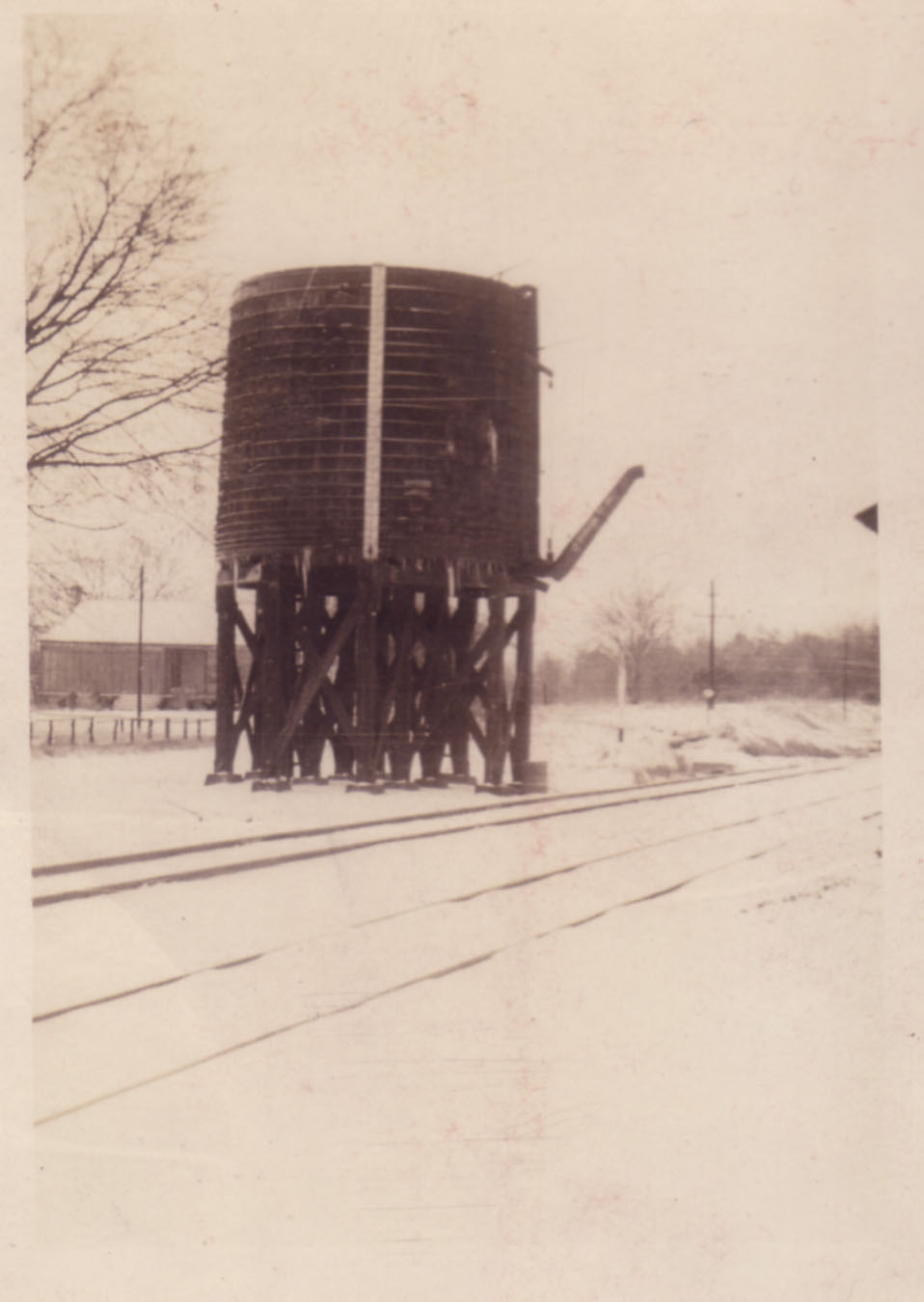 Water tower for steam trains.  Photo by Hudnalle McLean Sr.