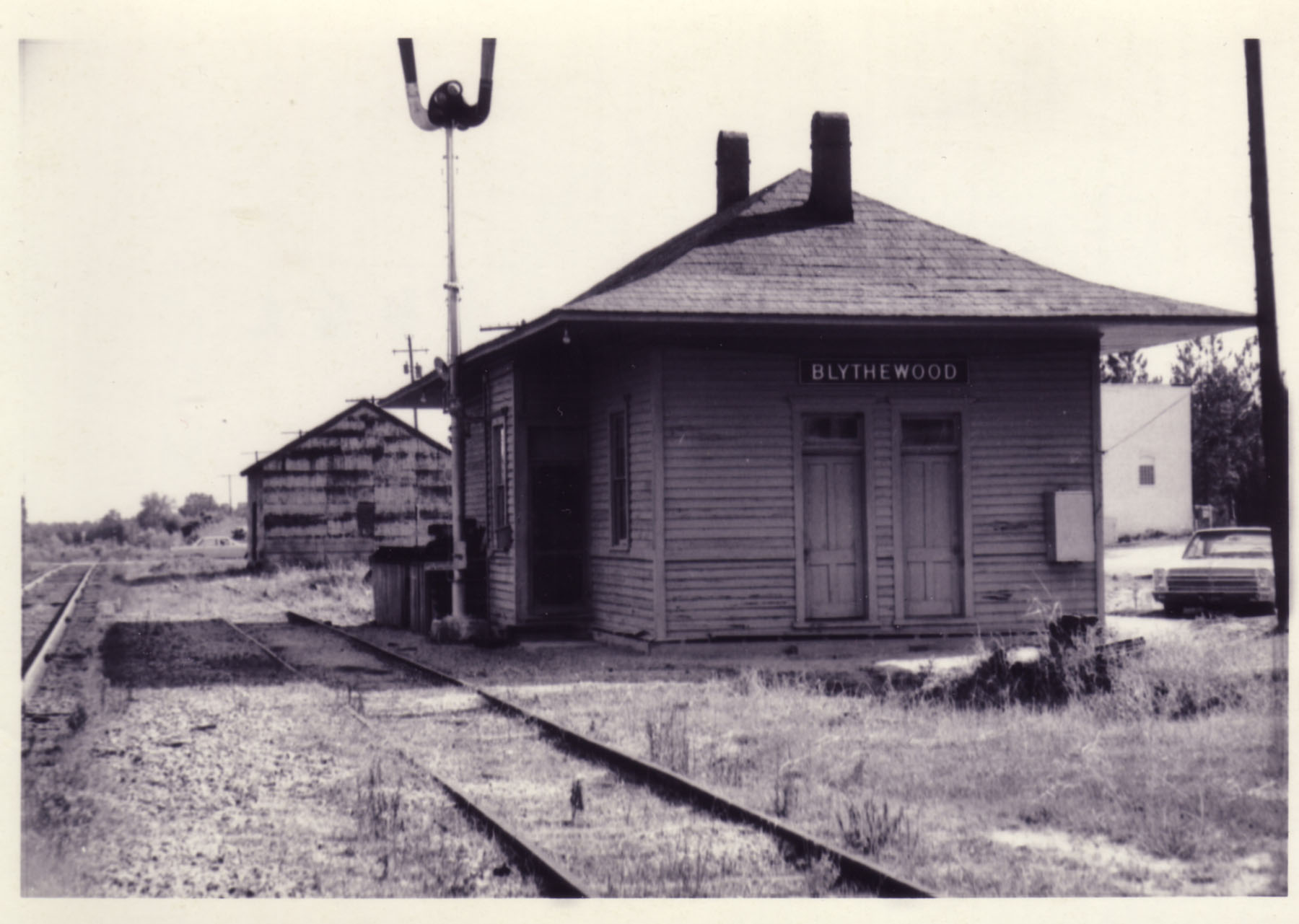North end of depot nearing the end of it's life.  Photo by Hudnalle McLean Sr. in June 1968.