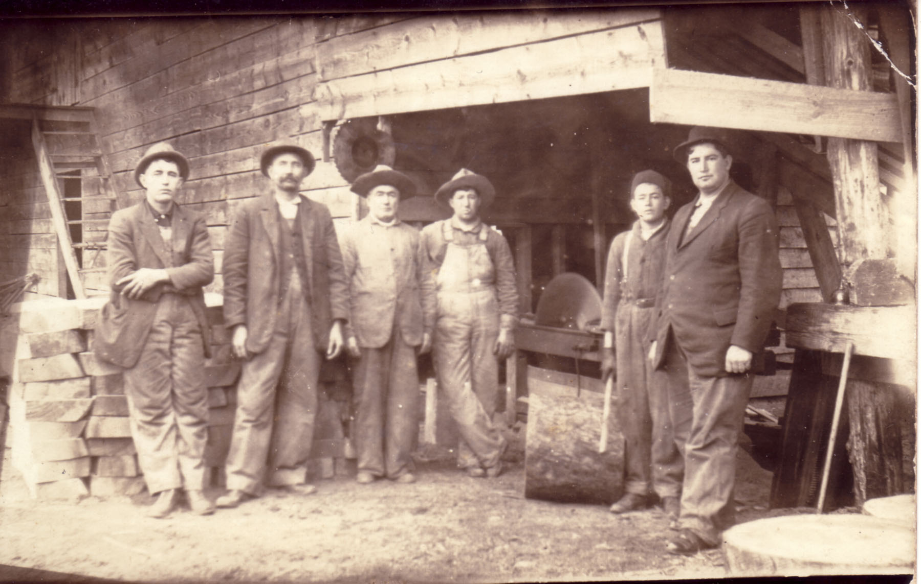 Martin and Blume Sawmill.  Photo courtesy of Dorothy Blume.