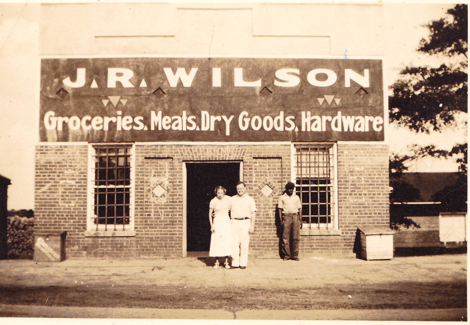 Roger Wilson's First Grocery Store.  Photo courtesy of Roger Wilson family.