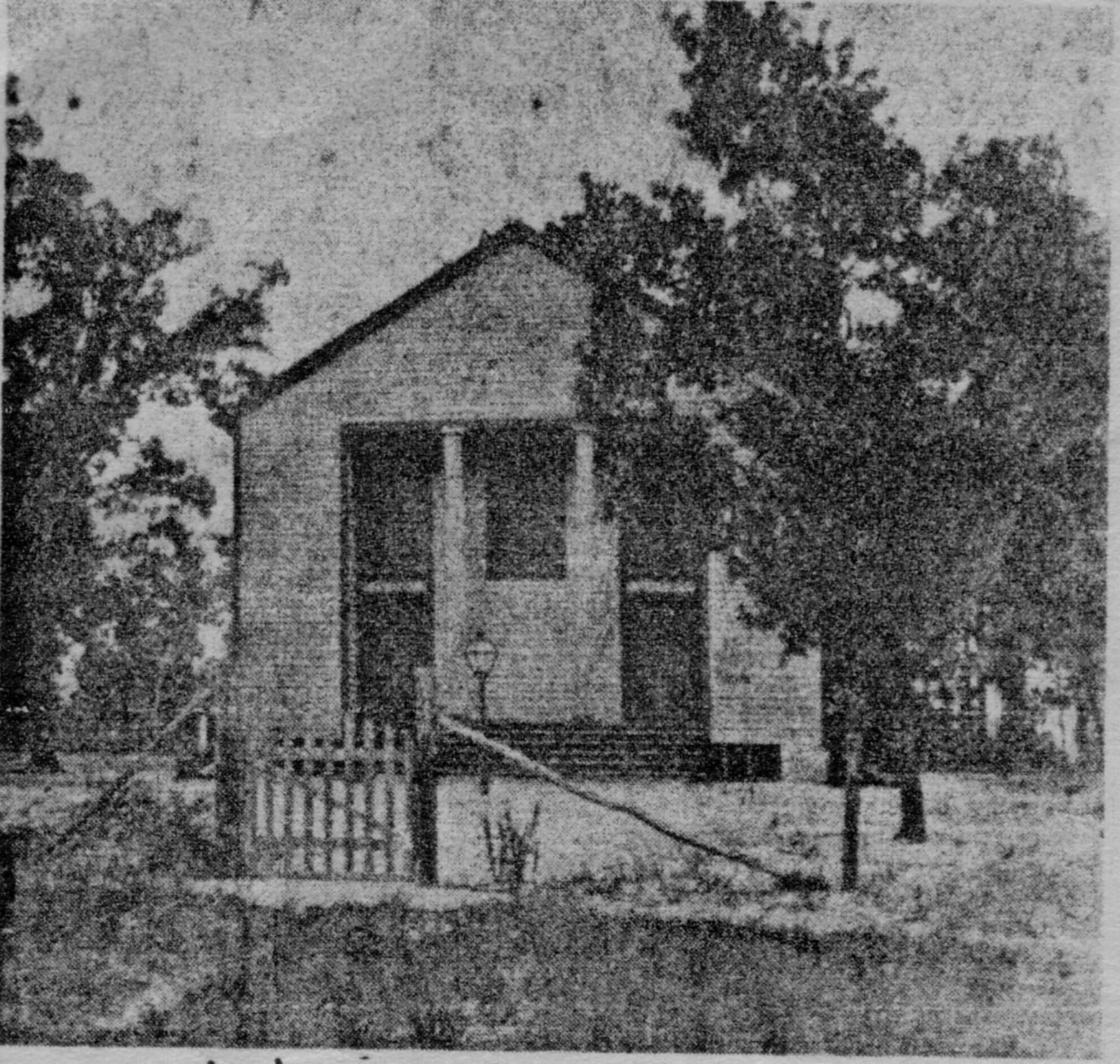 Early photo of Sandy Level Baptist Church.