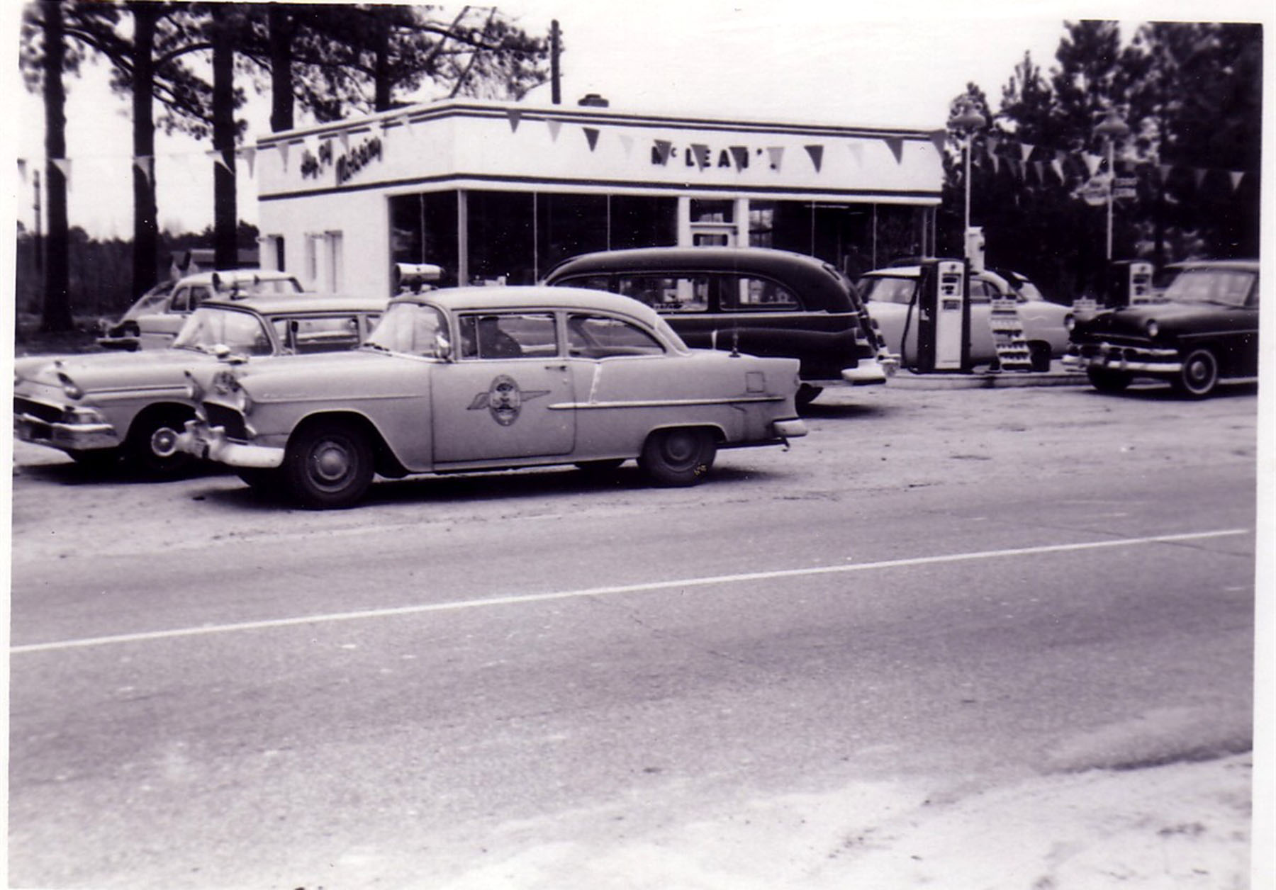 McLean's Esso Station across from Blythewood School.  Taken in 1956 by Hudnalle McLean Sr.