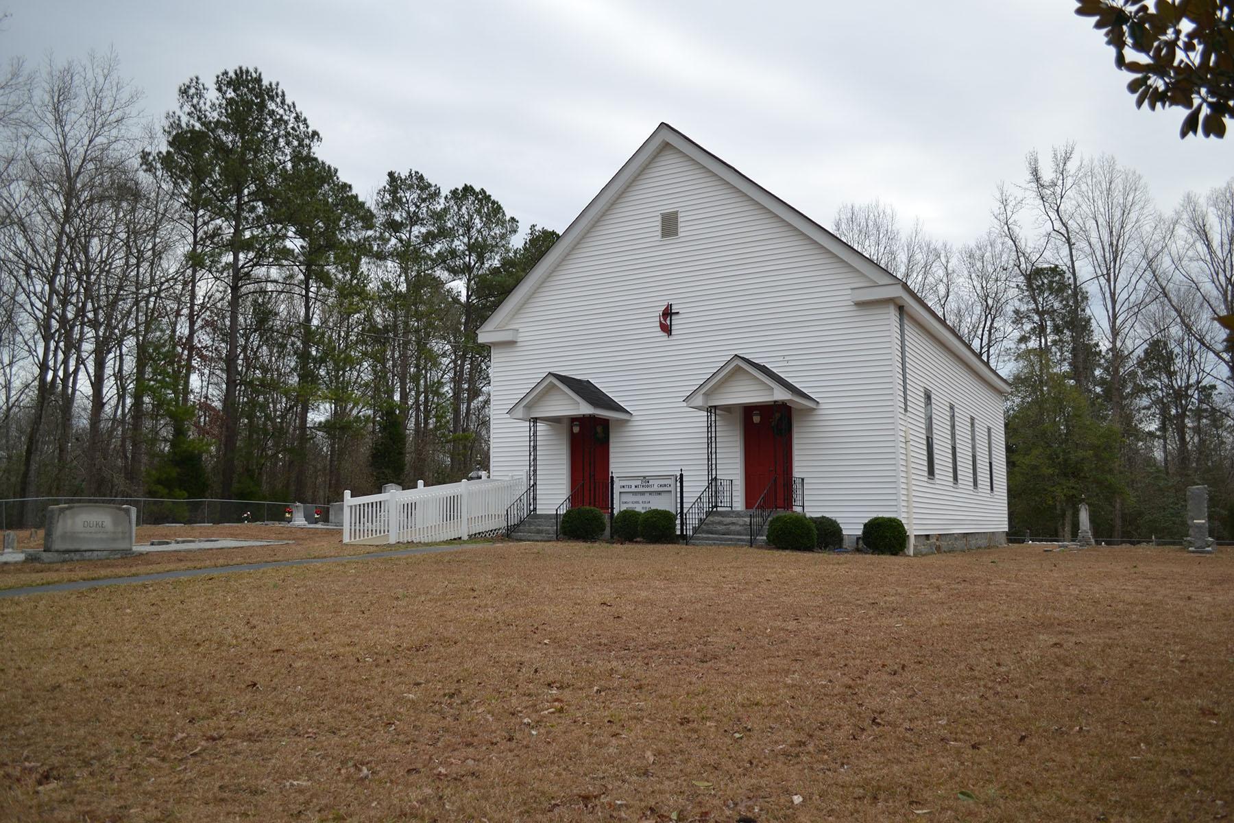 Zion Methodist Church.  Photo taken by Jim McLean in 2012.
