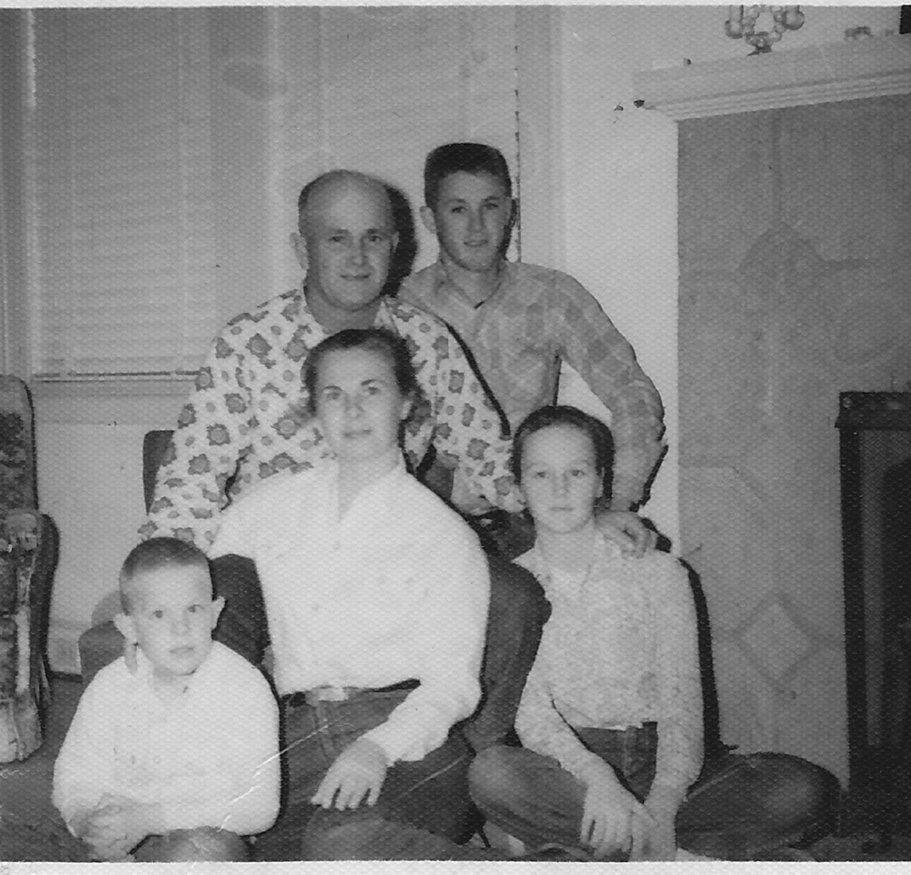 Jim, Sybil, Michael and Josie Jennings along with family friend John Henry Rimer.  Photo courtesy of Virginia Cobia.