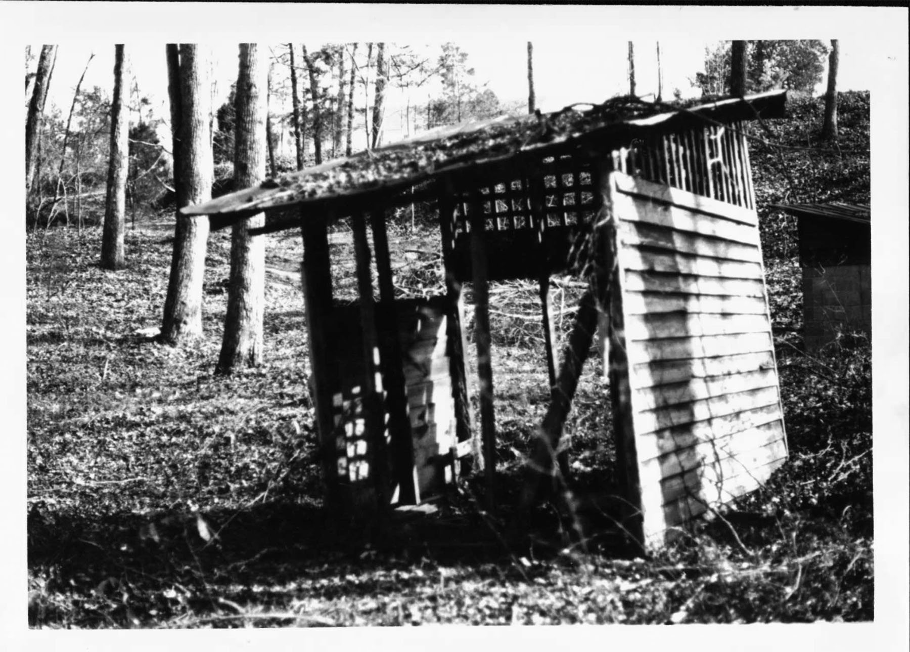 Baptismal Pool before Restoration.  Photo by SC Department of Archives and History.