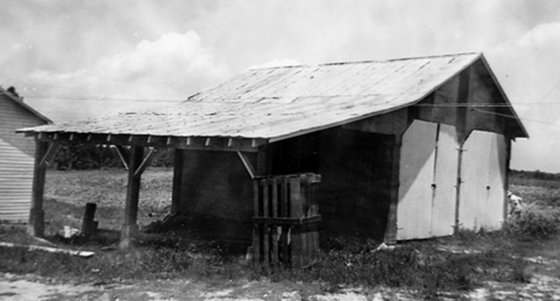 Blythewood School bus shed about 1932.  Photo courtesy of SC. Department of Archives and History.