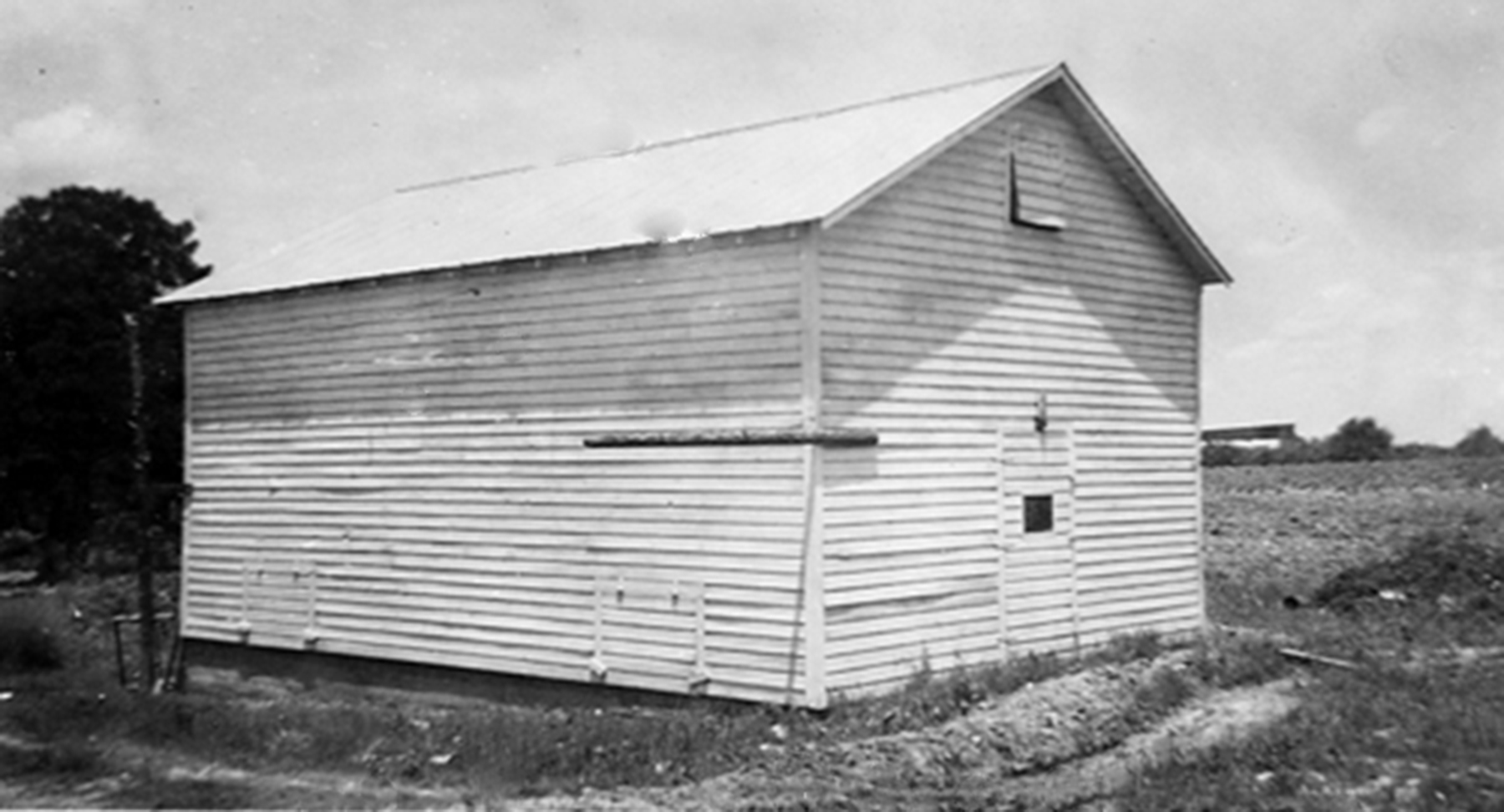 Blythewood School Potato Shed about 1932.  Photo courtesy of SC Department of Archives and History.