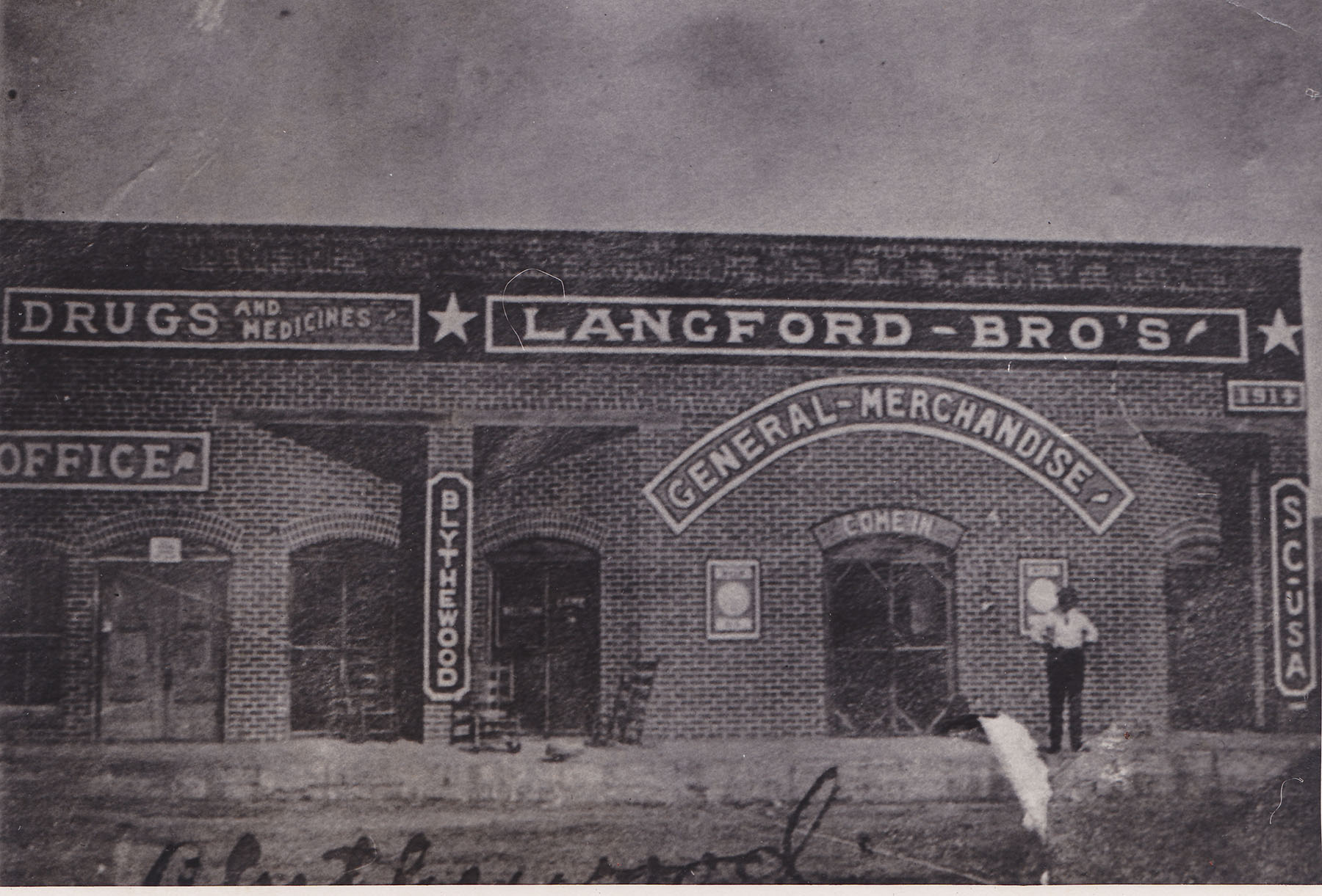 Langford Brothers Store taken in early 1920's.