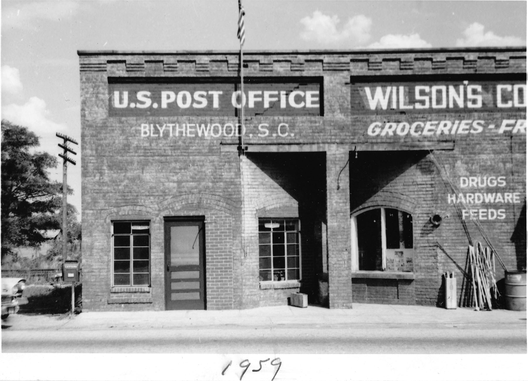 Wilson/Langford Community Store and Post Office 1959.  Photo by Hudnalle McLean Sr.