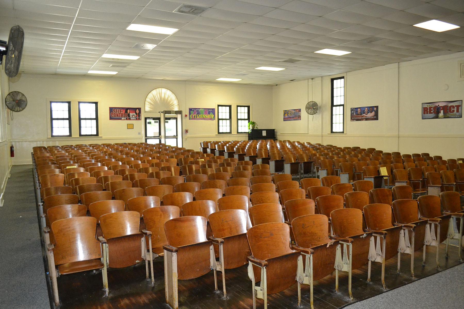 Blythewood School Auditorium.  Photo taken by Jim McLean August 2014.