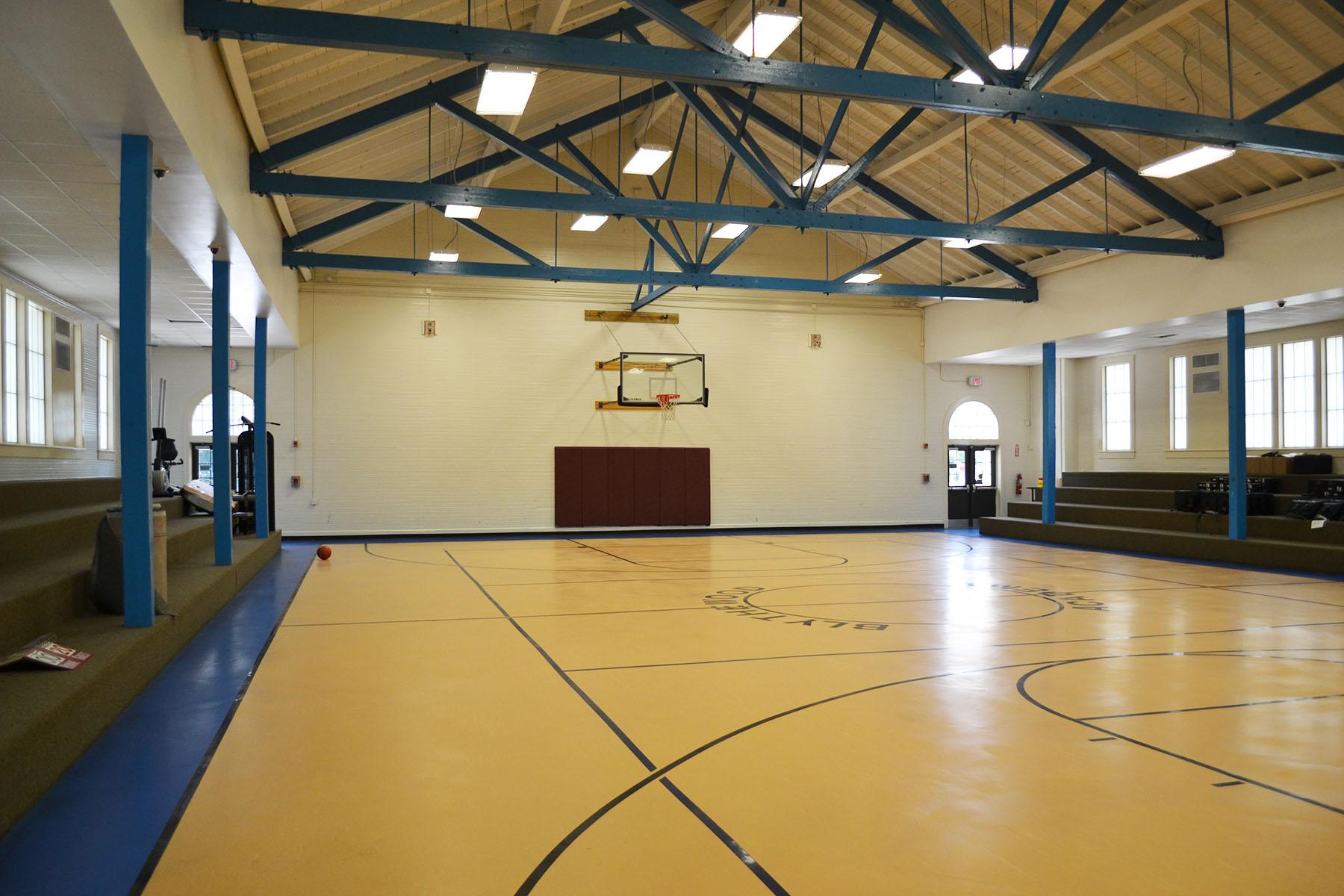 Blythewood School Gym.  Photo taken by Jim McLean August 2014.