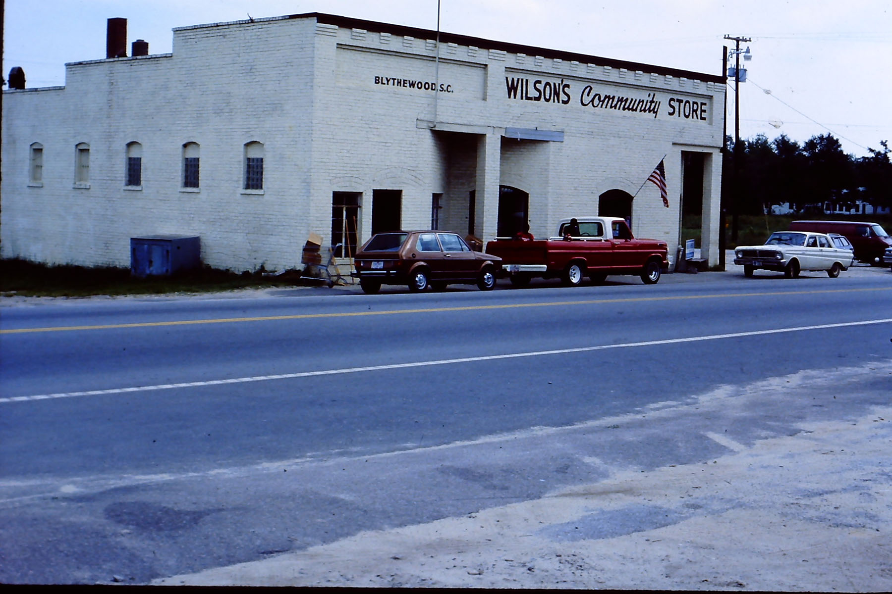 Wilson/Langford Community Store about 1970.  Photo by Hudnalle McLean Sr.