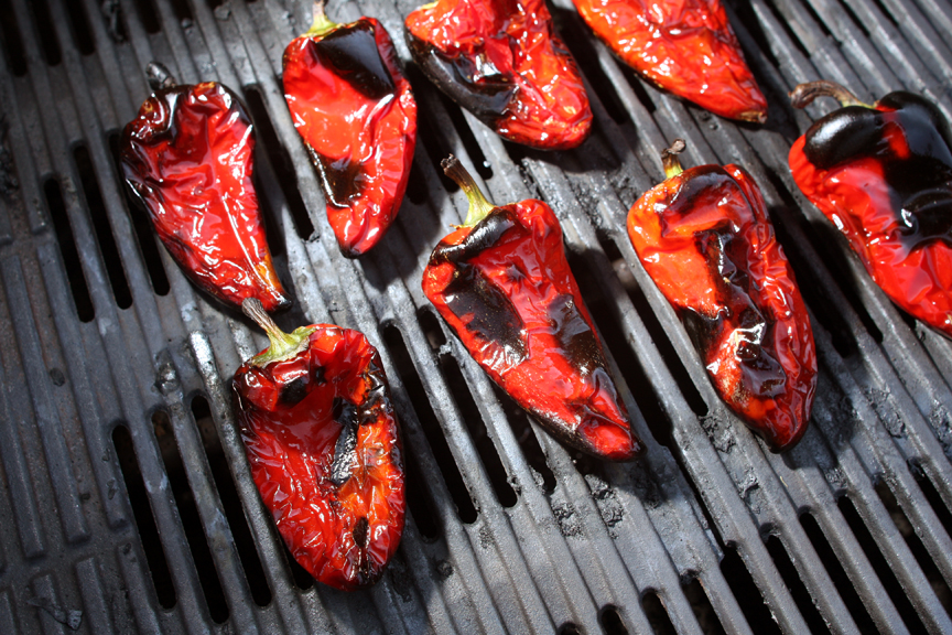 lipstick peppers on the grill