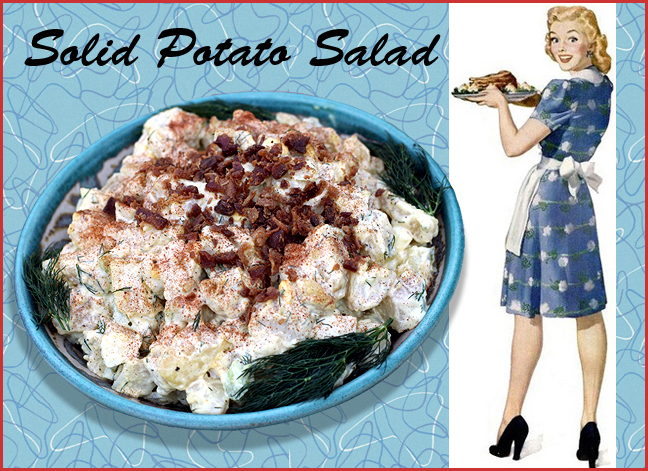 Good old fashioned fully loaded potato salad.