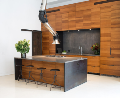"""""""2 Kitchens with Unusual Stove Hoods"""" December 16, 2015"""