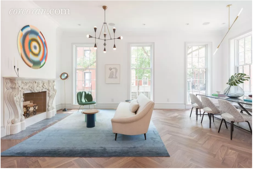 """Landmarked Brooklyn Heights Townhouse Asks $14M After Swanky Renovation"" By Tanay Warerkar - August 3, 2016"