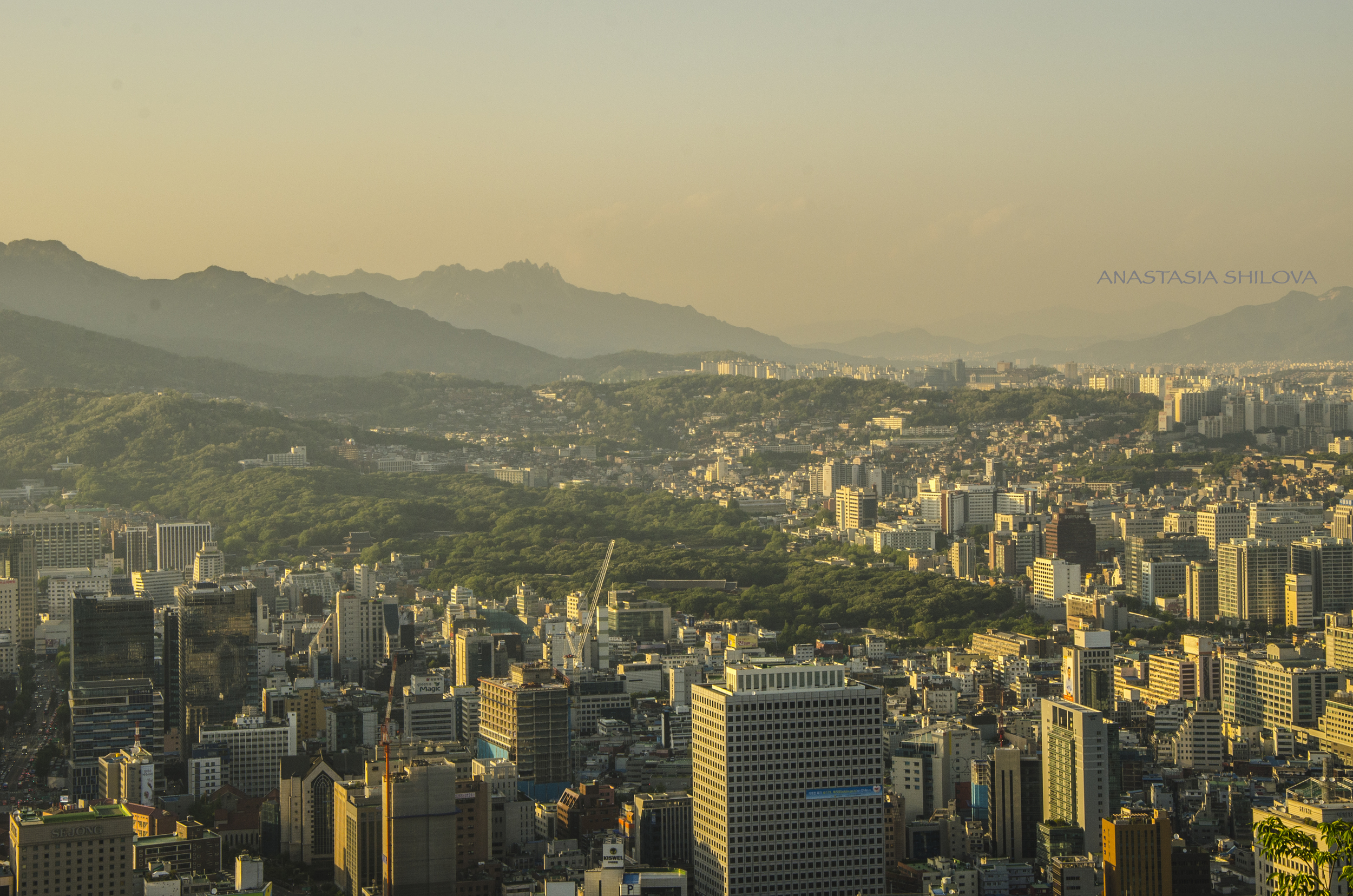 Seoul View During Sunset