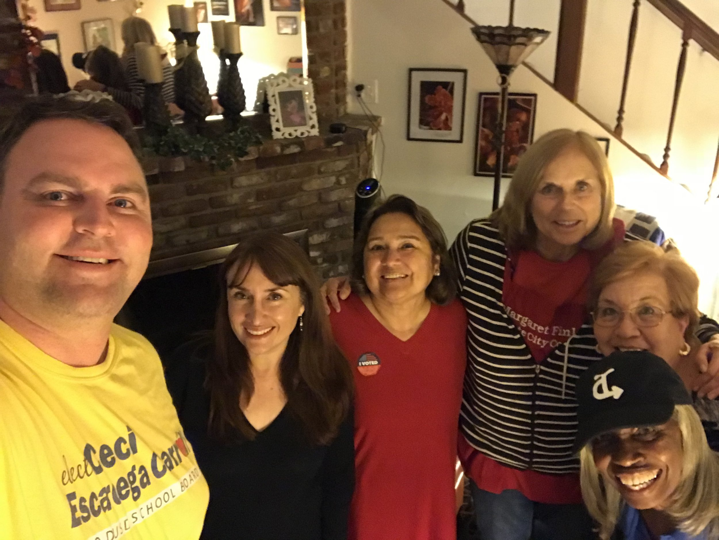 "About 3 this morning, the 6 remaining stalwart election ""junkies"" hugged and said ""goodbye"", confident that Ceci and Reyna were ahead in their races for the school board."