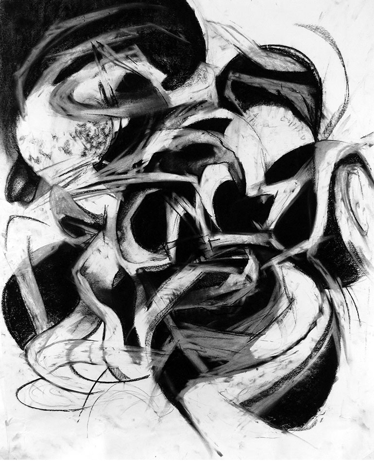 Marbles #1   Charcoal on paper, 2013