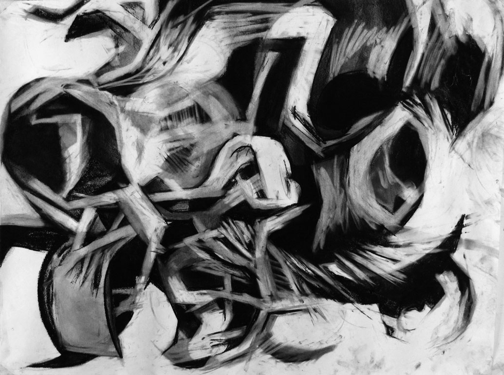 Marbles #2   Charcoal on Paper, 2013