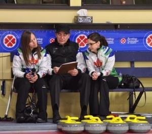 Rachel, Earle and Lisa at the 2013 Ontario Scotties