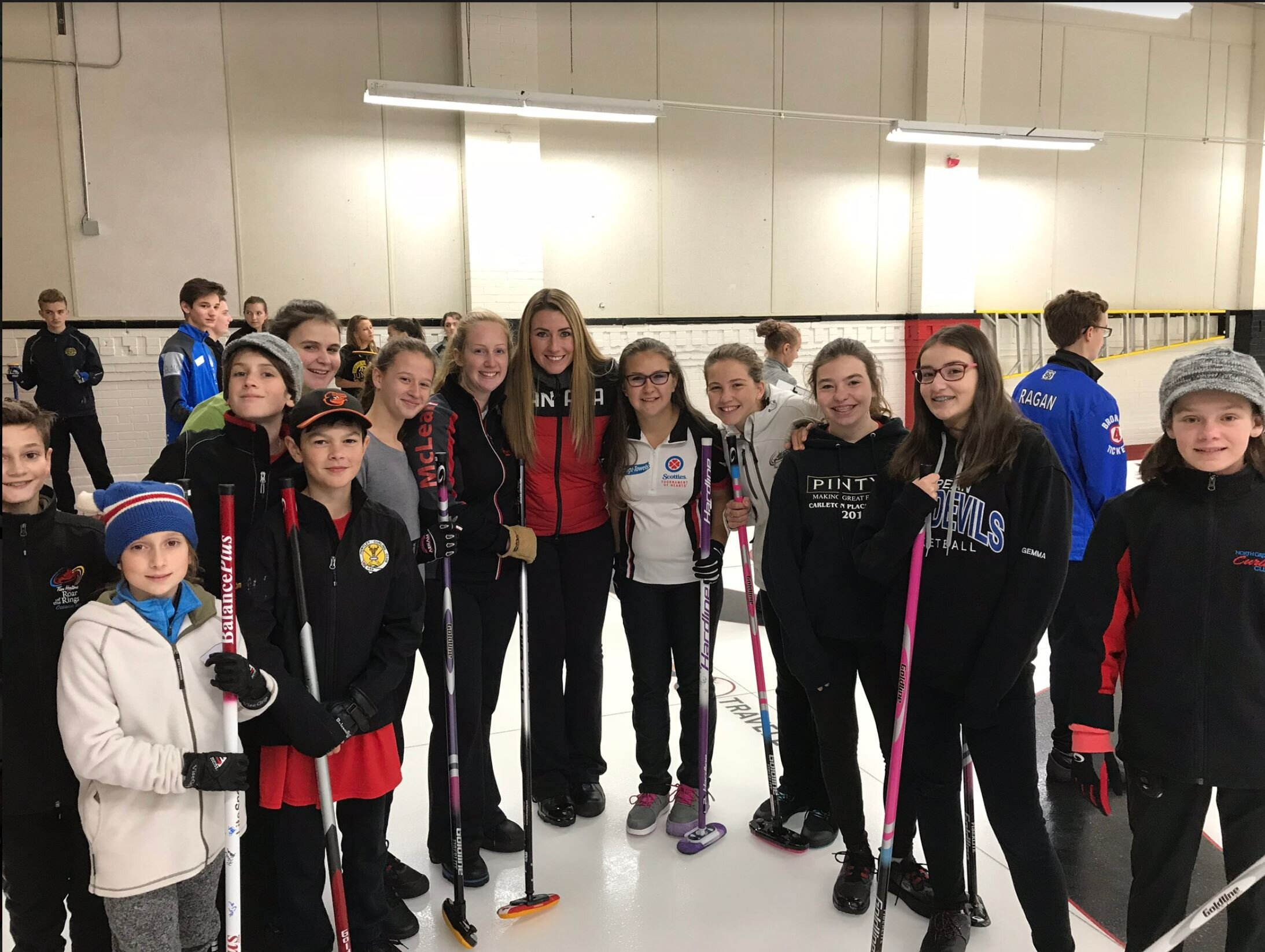 2018 Campers with their shootout captain Emma Miskew