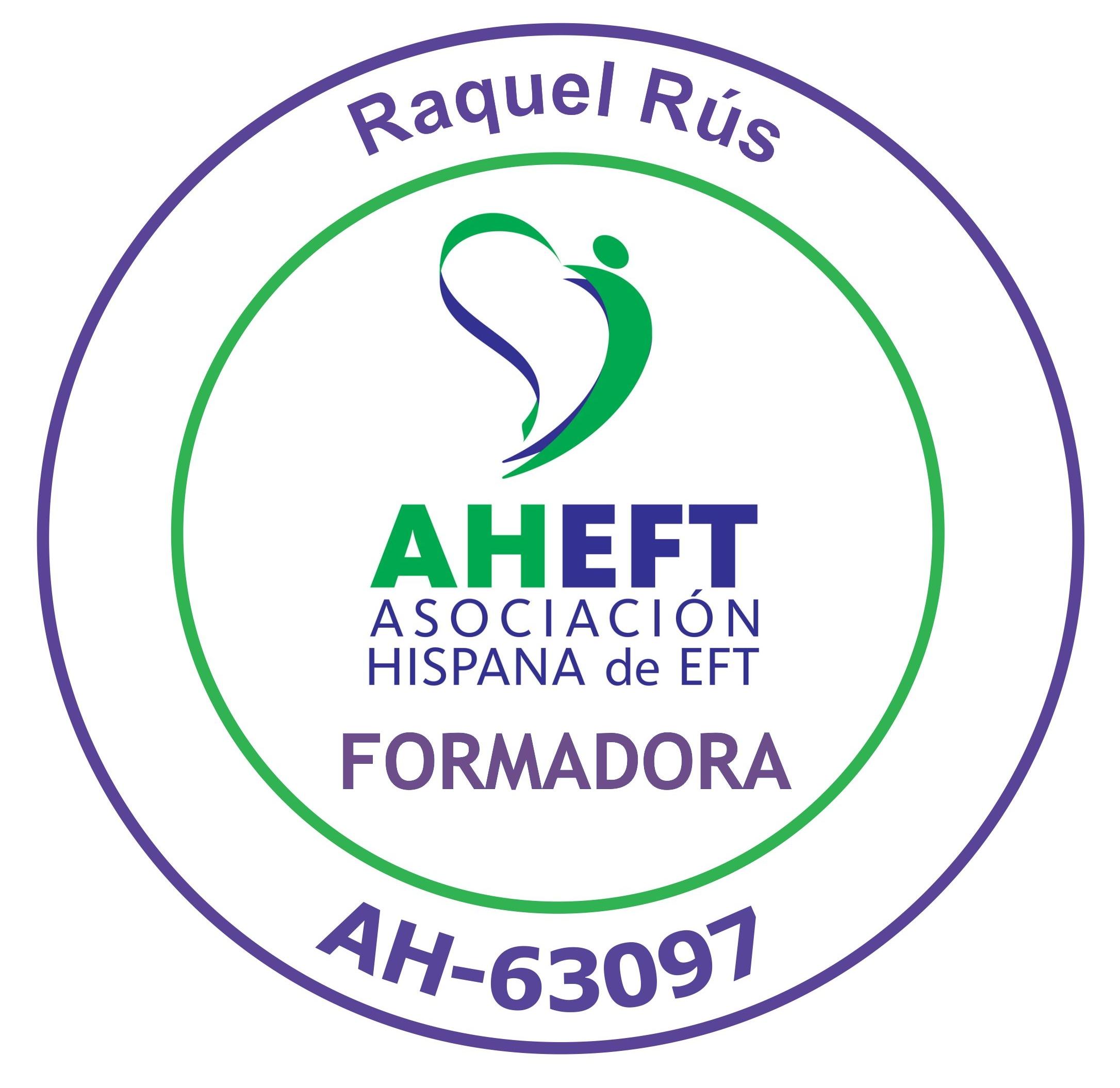 Formadora Certificada de EFT por la AHEFT