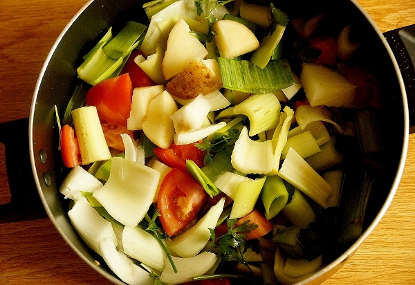 Mineral and vitamin restoring soup eaten daily on the Gerson Therapy