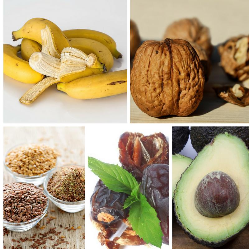 Serotonin rich foods Photo credit: Pixabay +Canva