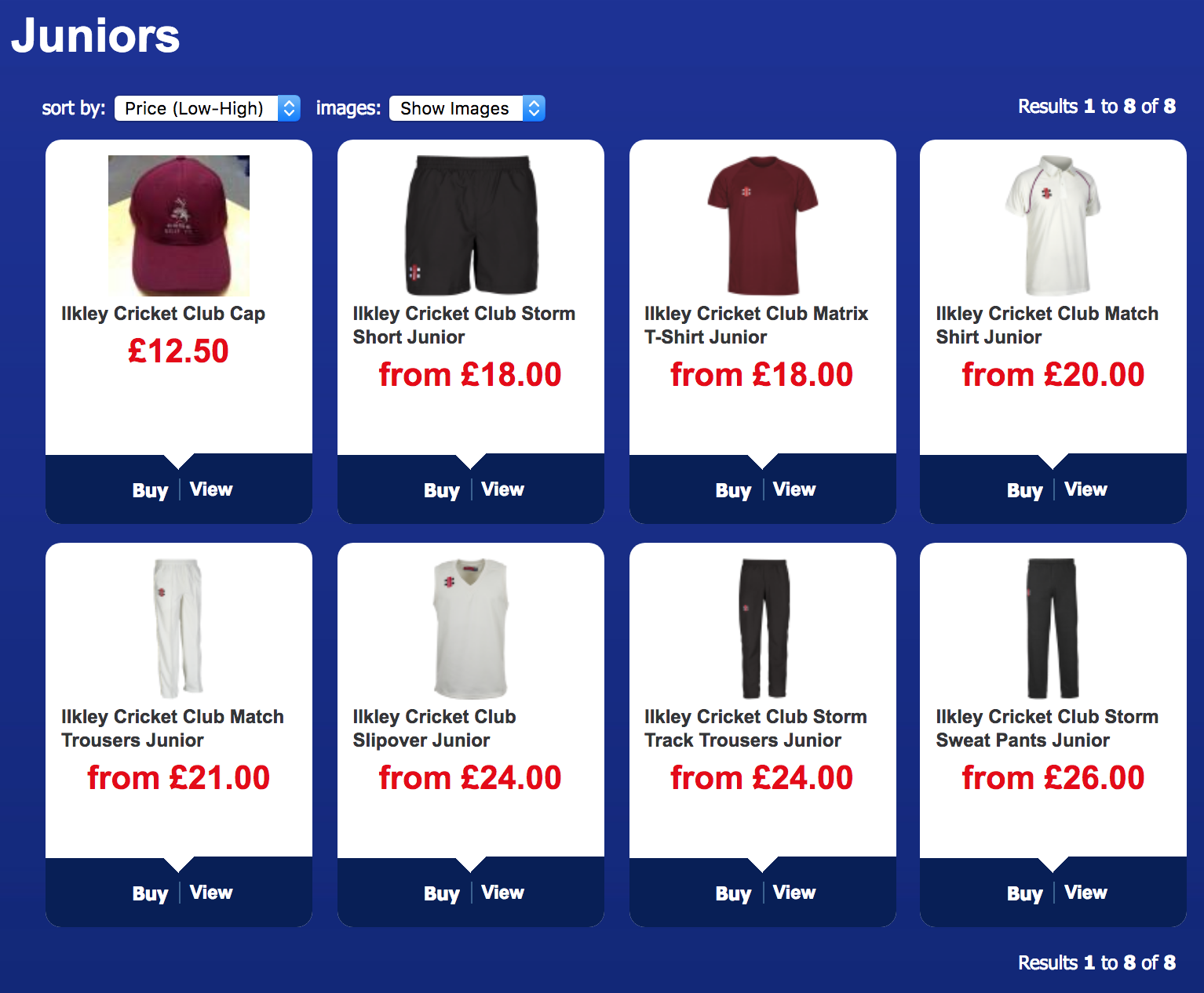 Click the image to browse the full range of Ilkley Cricket Club Kit for the 2018 season.
