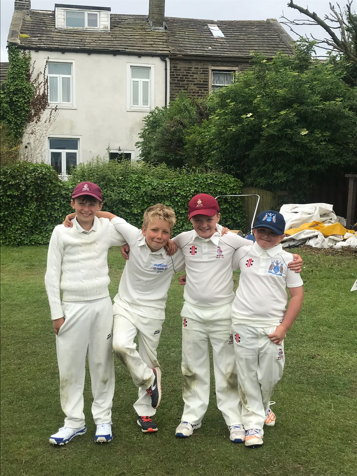 Left to right - Zac Ayre, Jack Winterbottom, Daniel Quaife and Alex Ross.