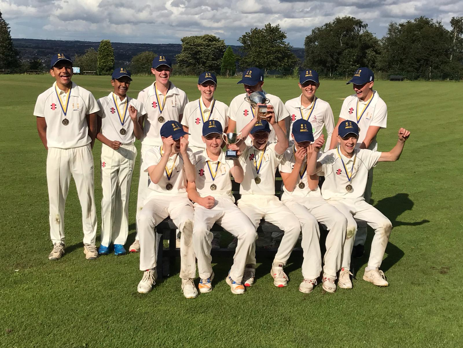 The Cup-winning Lords Taverners' Under 15's team after their victory over Barnsley at Horton Cricket Club - September 2019