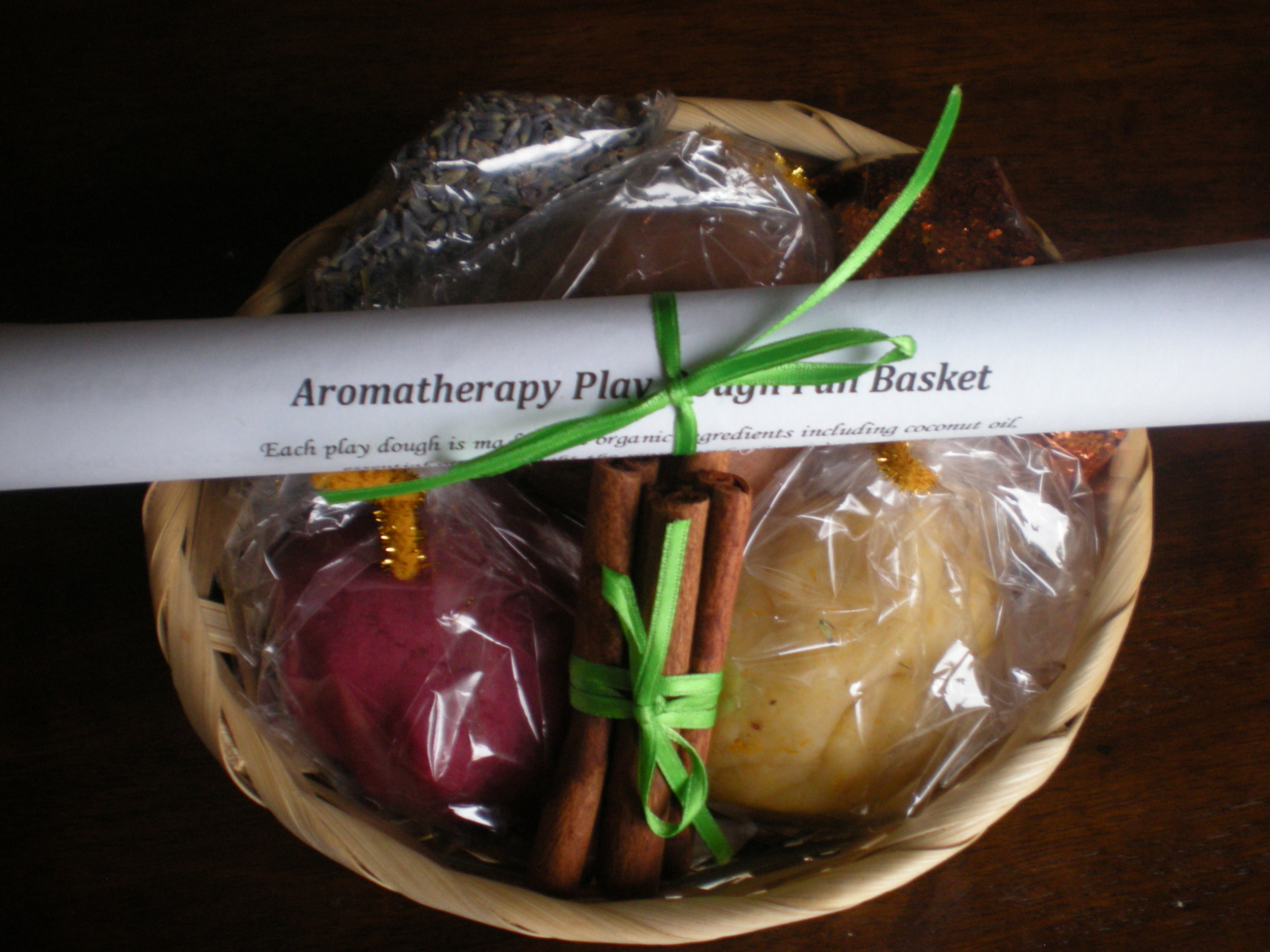 Playdough basket created for a fundraiser