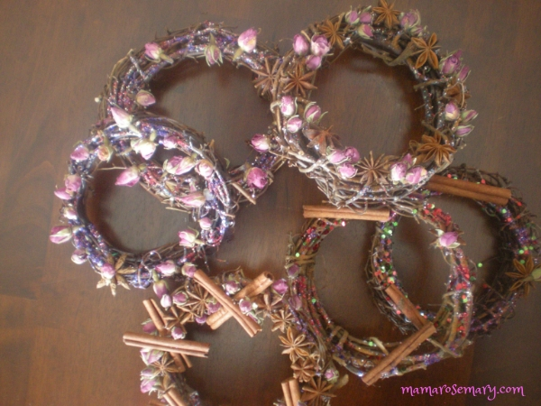rose and cinnamon wreaths