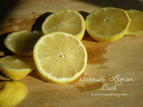 Lemons at sunrise.
