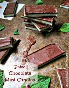 Paleo Dark Chocolate Mints by Livin' The Crunchy Life