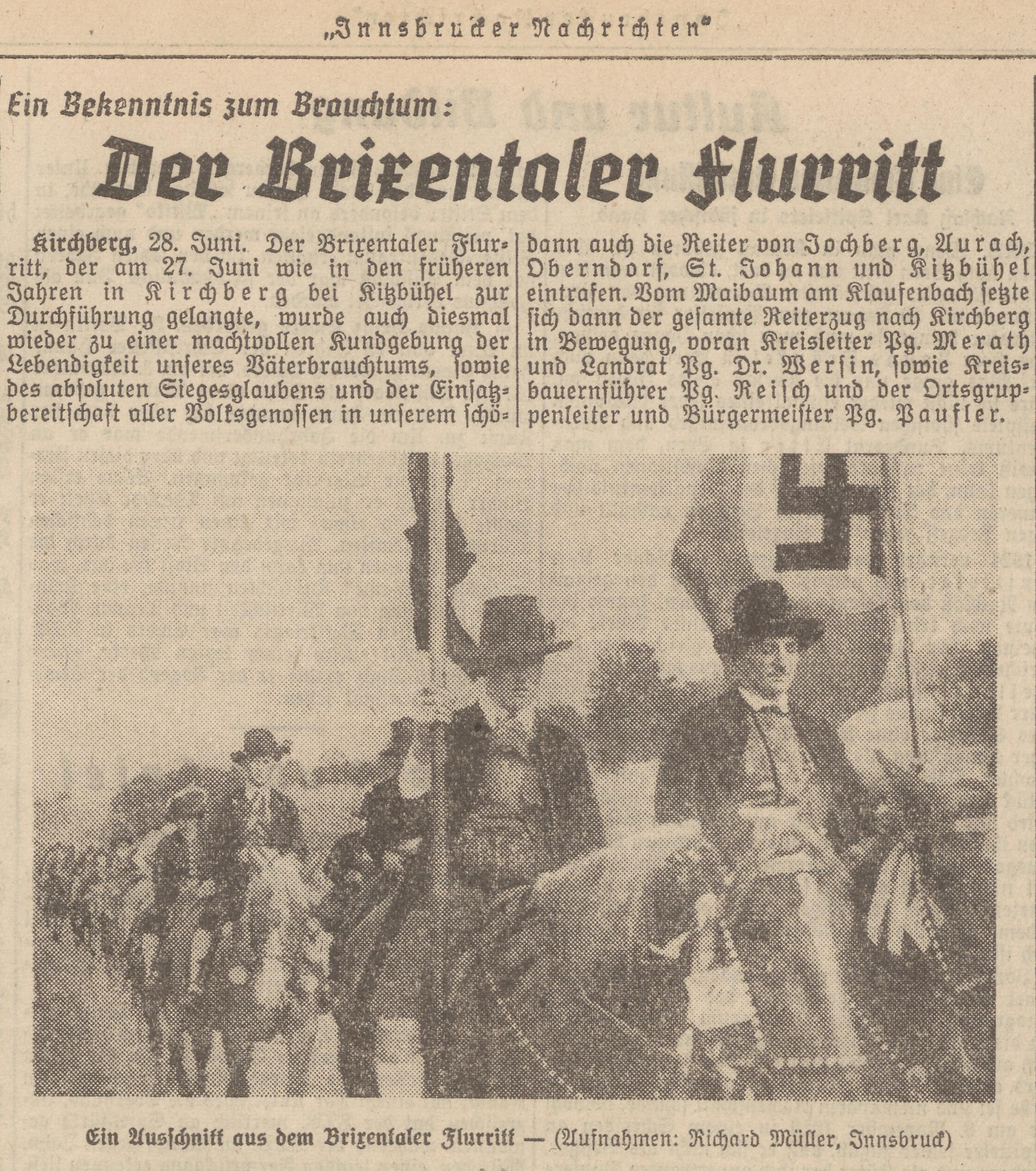 Photo | (c) Innsbrucker Nachrichten Nr. 151, 29.6.1943, S. 3