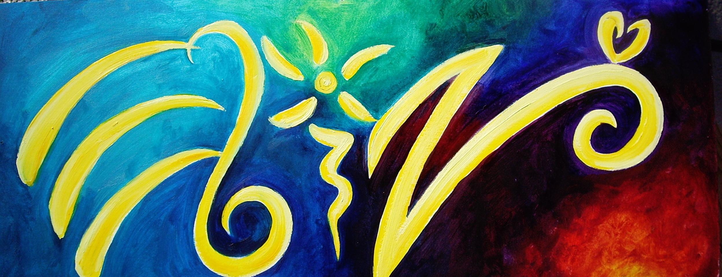 Eliza Furmansky's signature- colorful calligraphy