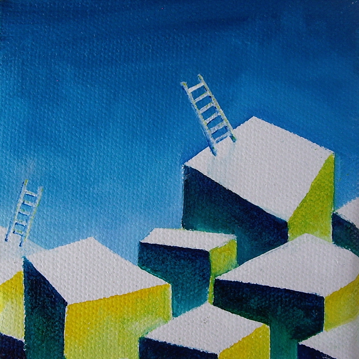 """Oil on canvas. 4"""" x 4"""" x 1"""". 2013   Purchase here."""